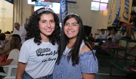 Victoria Núñez y Fernanda Ramírez.