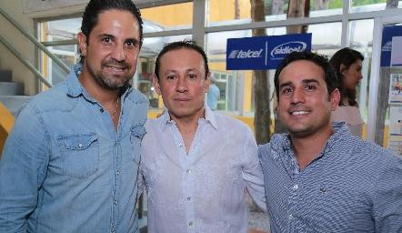 Edmundo Ríos, Pedro Lara y Gilberto Mejía.