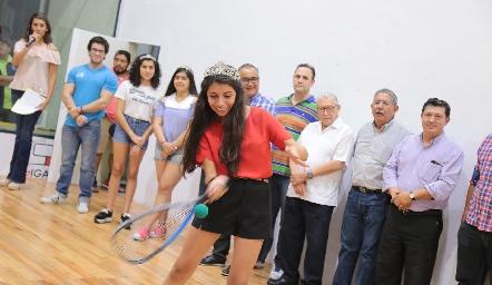 Sofía Esparza, reina de Lomas Racquet Club.