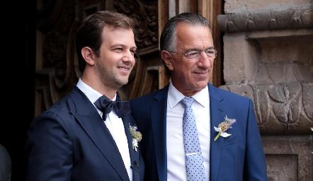 Alejandro Abud Barret con su papá Alejandro Abud.