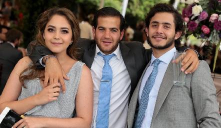 Bárbara Mahbub, Samer Medlich y Julián Abud.