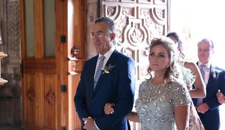 Alejandro Abud y Lorena Robles.