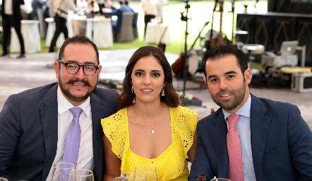 . Eduardo Delgado, Andrea y Fernando Labastida
