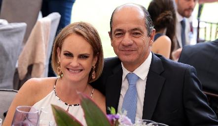 Rocío Gómez y Elías Abud.