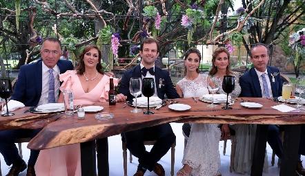 Familia Abud y Familia Andrés.
