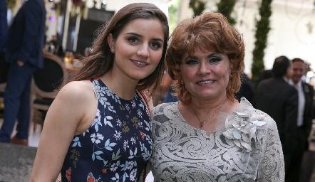 Eugenia Musa y María Eugenia Celis de Musa.