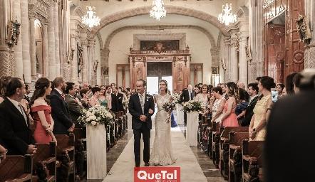 Entrada Ricardo Andrés con su hija Lorena.