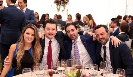 Paola Celis, Horacio Lizaola, Mauricio Zollino y Rodrigo Medellín.