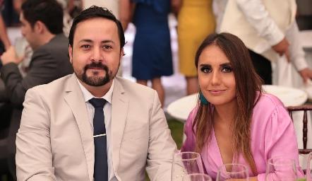 Salim Gutiérrez y Martha Adriana.