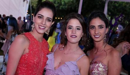 Mariana Labarthe, Montse Berrueta y Melissa Andrés.