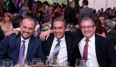 Daniel Medina, Arturo González y Jacobo González.