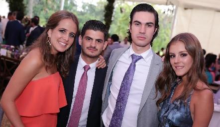 Montse Anaya, Oscar Cabrera, Miguel Andrés y Pau Mebius.