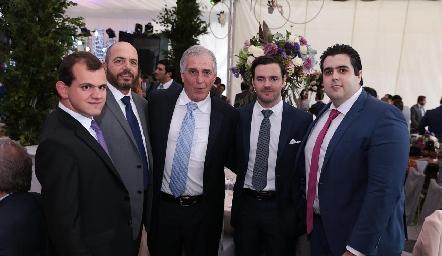 Elías Abud, Jeppo Mahbub, David Dauajare, Luis Mahbub y José Carlos Mahbub.
