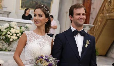 Lorena y Alejandro ya son esposos.
