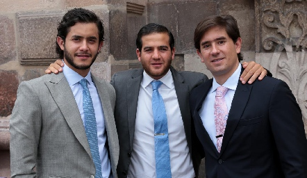 Julián Abud, Samer Medlich y Fernando Abud.
