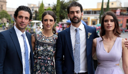 Roberto Mejía, Cata Abud, Roberto Abud y Pau Nieto.