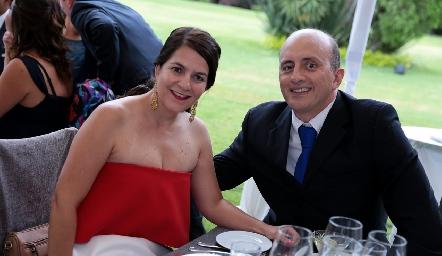 Gaby Suárez y Mauricio Sarquis.