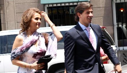 Irasema Medellín y Fernando Abud.