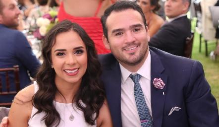 Evelyn Rodríguez y Luis Leal.