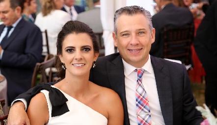 Daniela Rivero y Héctor Galán .