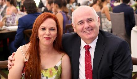 Luz María Caballero y Abelardo Almaguer .