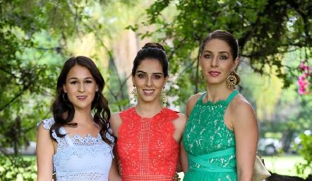 Carmelita Del Valle, Mariana y Gladys Labarthe.