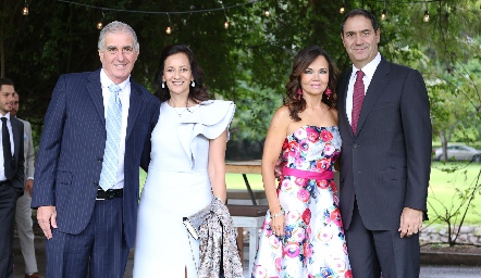 David y Gabriela Dauajare, Elsa Tamez y Luis Mahbub.