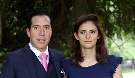 Sergio García y Fernanda Zárate.