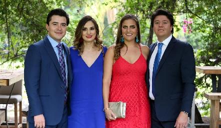 Adrián Martínez, Montse Muñiz, Danitza Lozano y Daniel Zollino.