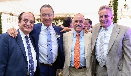 José León, Alejandro Abud, Jesús Andere y Daniel Dauajare.