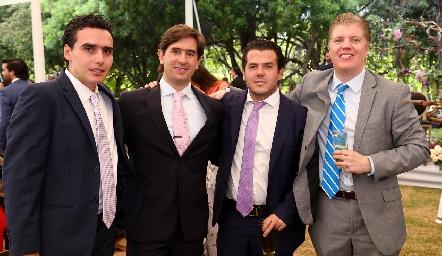 Xavier Azcárate, Fernando Abud, Jorge Torres y Manuel Zárate.