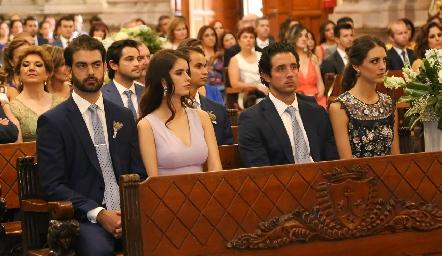 Roberto Abud, Paulina Nieto, Roberto Mejia y Catalina Abud.