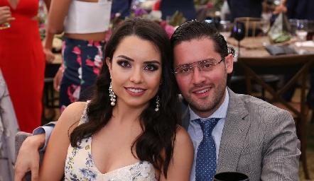Gaby Díaz Infante y Abraham Salgado.