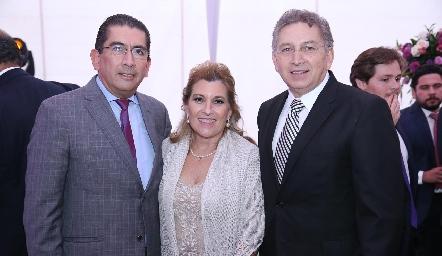 Gerardo Bocard, Carmen y Antonio Cerecedo.