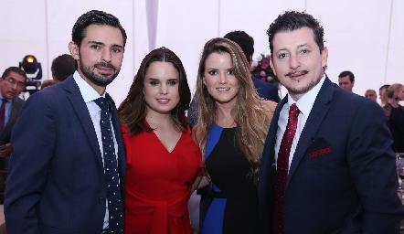 Andrés Allende, Mayte Soberón, Paola Celis y Horacio Lizaola.