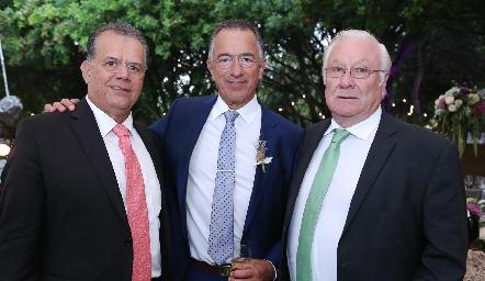 Eduardo Chávez, Alejandro Abud y Alejandro Gutiérrez.