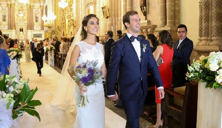 Lorena Andrés y Alejandro Abud ya son esposos.