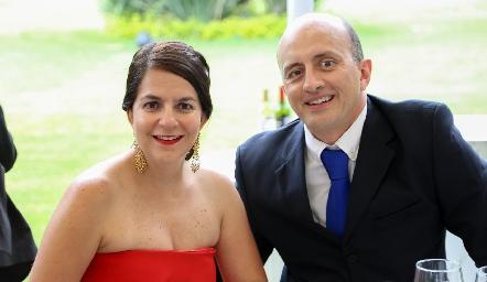 Gaby y Mauricio Sarquis.