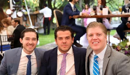 Juan Pablo Barragán, Jorge Torres y Manuel Zárate .