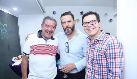 Dr. Javier Zárate, Dr. José Zermeño Nava y Dr. Alejandro Muñiz.