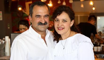 Fernando Jiménez y Georgina Jasso.
