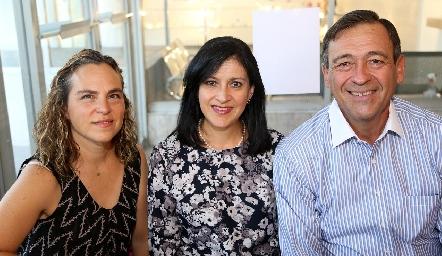 Patricia González, Tere de Mendizábal y Carlos Mendizábal.