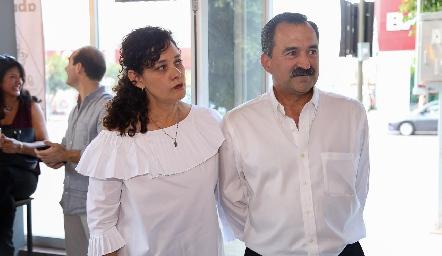 Georgina Jasso y Fernando Jiménez .