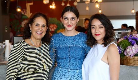 Beatriz Treviño, María Fernanda Jiménez y Astrid Jiménez.