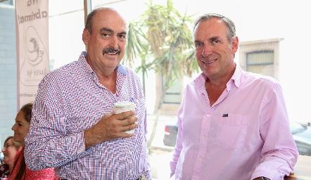 Juan Manuel Reynoso y Jesús Aguirre.
