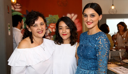 Georgina Jasso, Astrid y María Fernanda Jiménez.