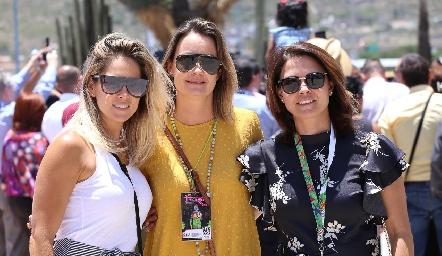 María José Pedrero, Gaby Artolózaga y Fernanda Félix.