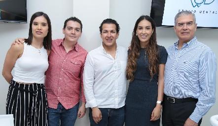 Pao Delgadillo, Diego Tejeda, David Puente, Sofía Delgadillo y Mario Delgadillo.