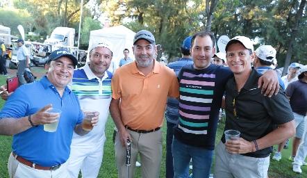 Ildelardo Tello, Rafael Espinoza, Alexander Sharp, Gerardo Lomelí y Toño Ramírez.