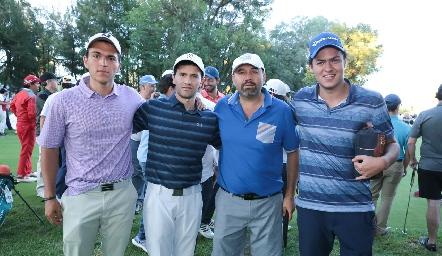 Alejandro López, Salim Abud, Ricardo Trujillo y Sahid Abud.